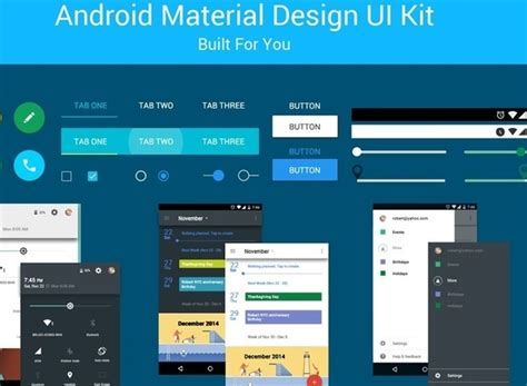 material design app kit free android material design ui kit psd free psd in