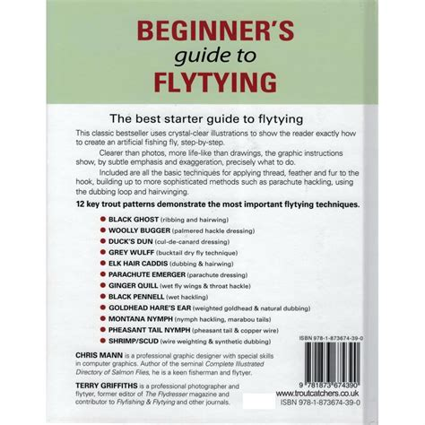 beginner s luck guide for non runners books beginners guide to fly tying by chris mann terry