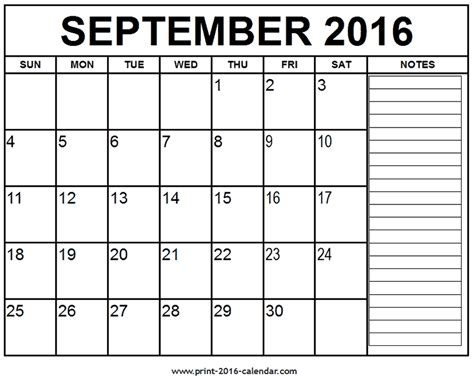 printable calendar 2016 bookmark printable september 2016 calendar