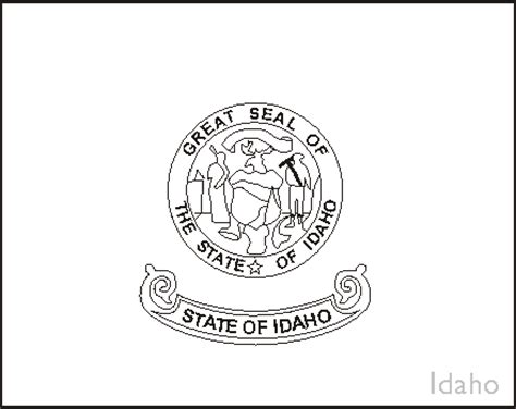 idaho state flag coloring pages usa for kids