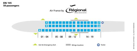 erj 145 seating air airlines erj 145 aircraft seating chart