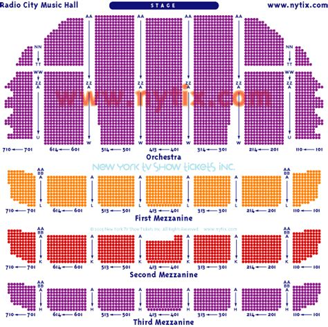 radio city seating plan lemaire radio city seating chart