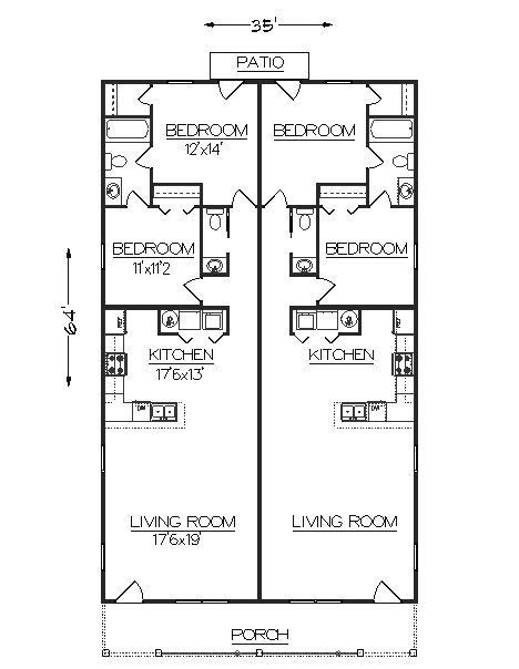 duplex home floor plans best 25 duplex plans ideas on pinterest duplex house