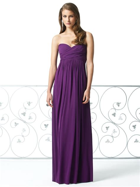 strapless purple bridesmaid dresses a strong sense