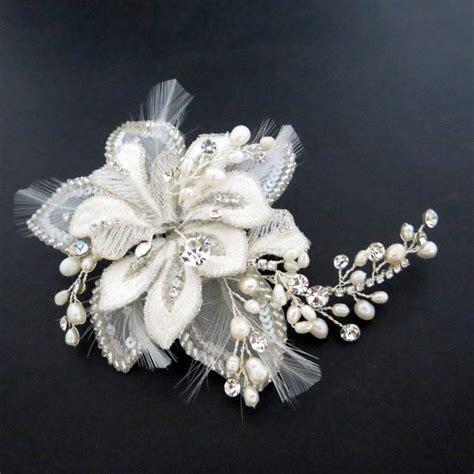 beaded bridal headpiece beaded bridal headpiece flower hair comb bridal hair clip