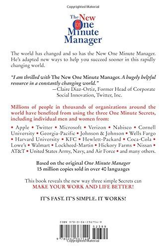 libro the new one minute libro the new one minute manager di ken ph d blanchard spencer m d johnson
