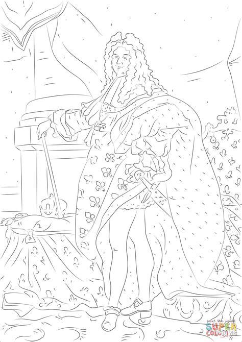 Dibujo de Luis XIV para colorear | Dibujos para colorear