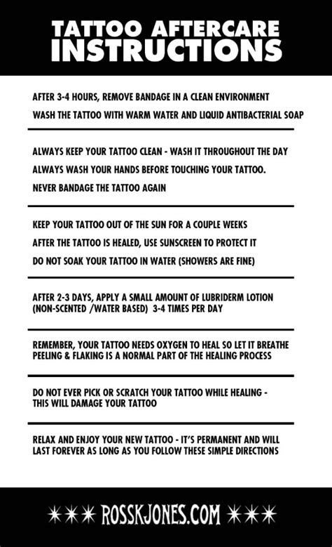 proper tattoo aftercare aftercare leaflet theleaf co