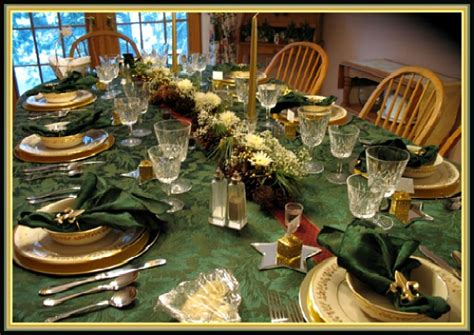 Rustic Tablescapes gold and green tablescape idea