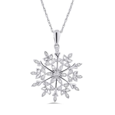 Sterling Silver Snowflake Pendant sterling silver snowflake pendant charm