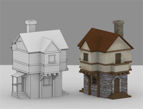 create a 3d house creating a low poly medieval house in blender part 1