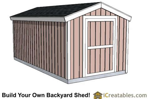 gable shed   foot tall wall shed plans