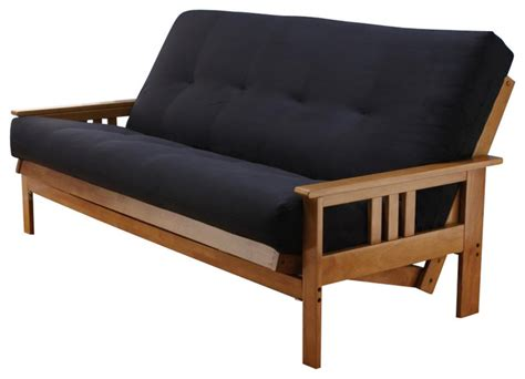 wooden frame futon sofa bed andover size futon sofa bed honey oak wood frame