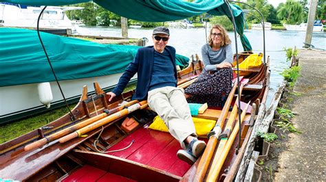 skiff travel boating on the thames in a vintage skiff travel the