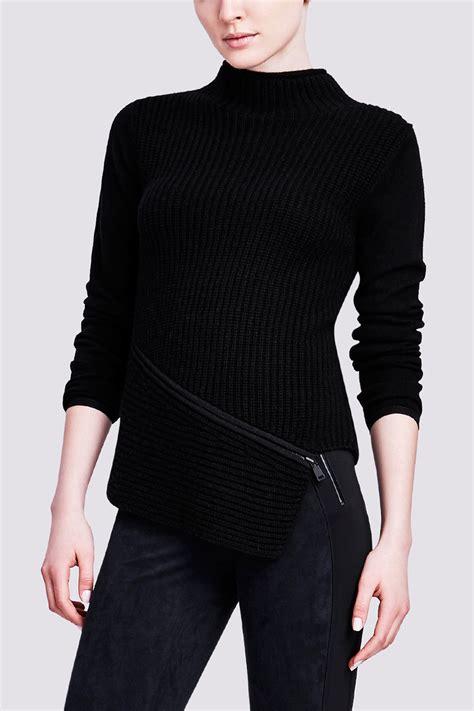 Zipper Kinjaz 03 Zemba Clothing elie tahari vienna sweater with zipper detail in black lyst