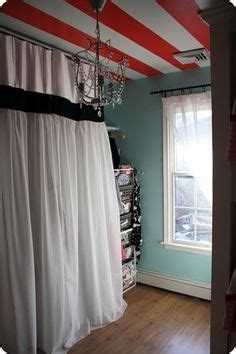 Walk In Closet Curtain by Walk In Closet On Slanted Ceiling Attic Spaces And Curtains