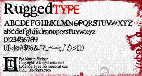 rugged font rugged type font dafont