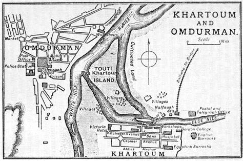 omdurman map file 1905 map khartoum and omdurman by cook png