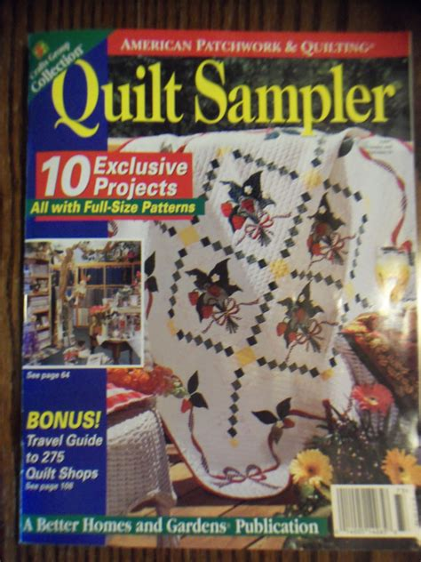 Patchwork And Quilting Magazine Back Issues - american patchwork quilting quilt sler 1997 back