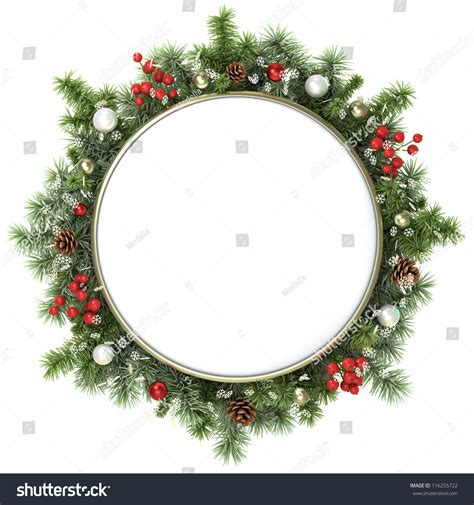 alternate christmas tree picture frame december frame tree branches stock photo 116255722