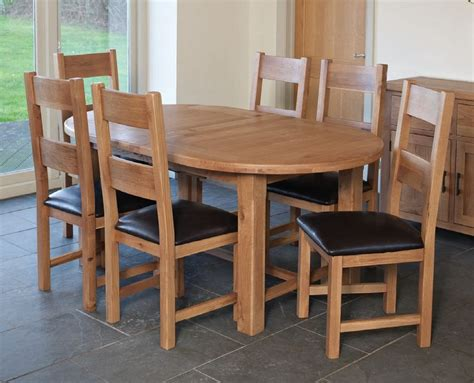 Oval Oak Dining Table And Chairs Buy Furniture Link Hshire Oak Dining Set 180cm Oval Extending With 6 Padded Seat Chairs