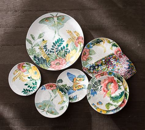 pottery barn china lyla garden butterfly dinnerware pottery barn