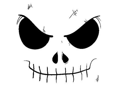 fotos de la calavera jack dibujo de cara de calavera para colorear dibujos net