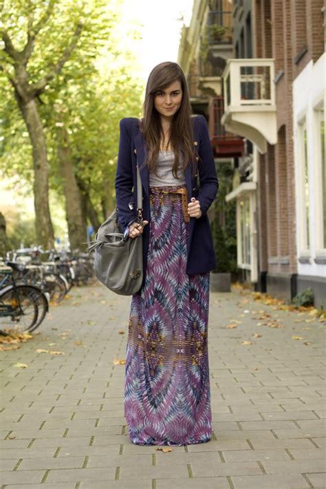 the maxi skirt blazer coat combo my style