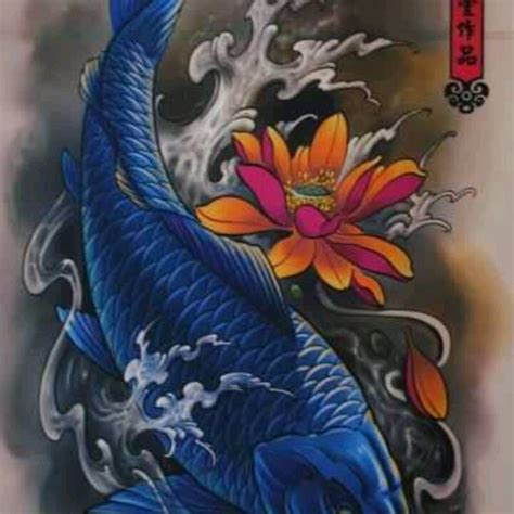 blue koi tattos pinterest blue and koi