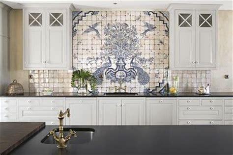 french blue and white ceramic tile backsplash 46 best blue white tiled kitchen images on pinterest