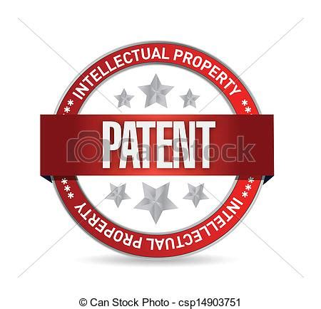 icon design patent clipart vector of patent seal st illustration design