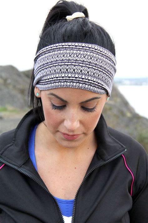hairstyles with sport headbands black and white fithappy wide ladies classic exercise
