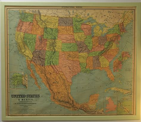 map usa framed found in ithaca 187 large framed vintage map of the us