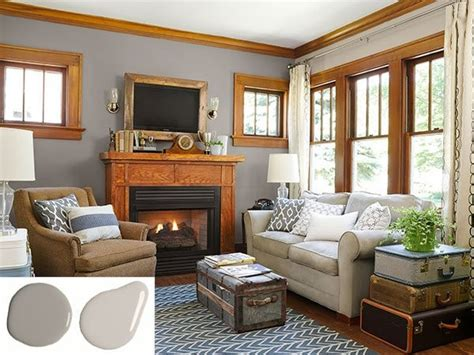 Paint Colors For Living Room With Oak Trim by Paint Color Ideas For Stained Woodwork