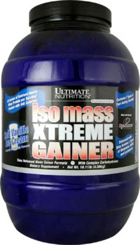 Isomass Xtreme Gainer Ultimate Nutrition Iso Mass Xtreme Gainer At Bodybuilding