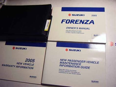 free car repair manuals 2005 suzuki forenza security system suzuki owners manuals online cootersautomanuals com