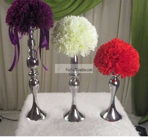 Centerpiece Pillar Candle Holder by Wedding Feather Centerpieces Wholesale Floral Stand