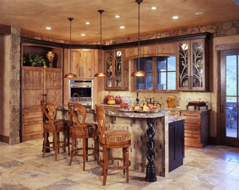 mountain home kitchen design rustic modern mountain home