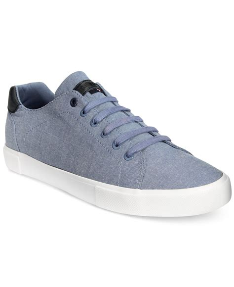 hilfiger sneakers mens hilfiger s pawley low top chambray sneakers