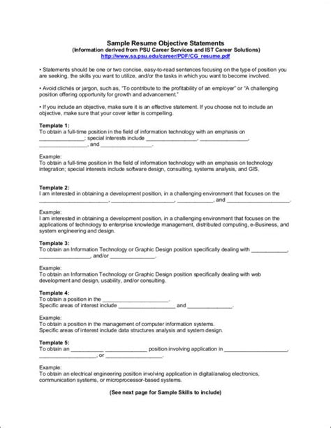 Do You Need An Objective On A Resume by Does A Resume Need An Objective Sle Templates