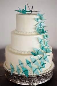 Cake Origami - blue origami cake coisas de casamento