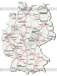 autobahn map germany germany autobahn map vector clipart