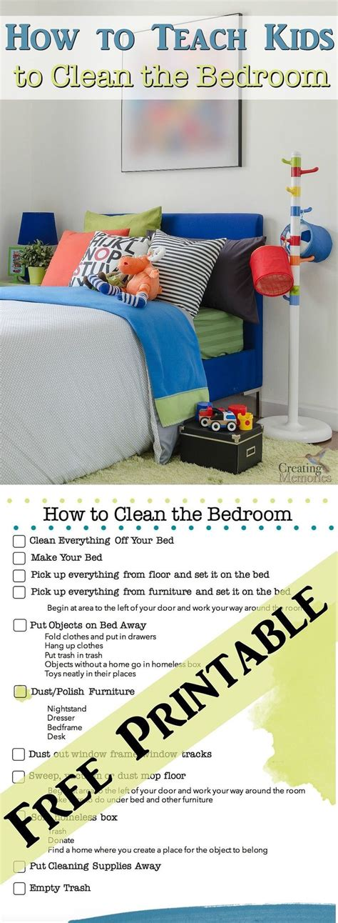 How To Clean Bedroom by 13 Best Images About Chore Chart Ideas On Free Calendar Chore Checklist And Kid Chores