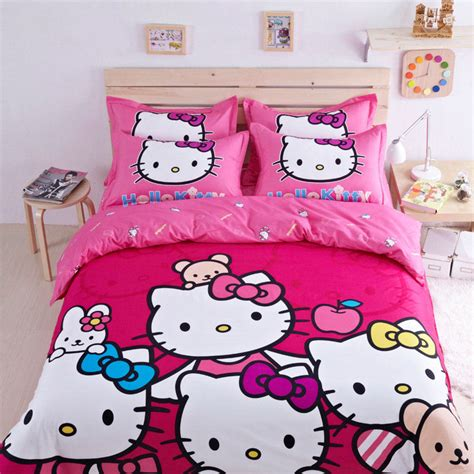 hello kitty twin bed set 2015 new hello kitty cartoon bed set bedding sets bed