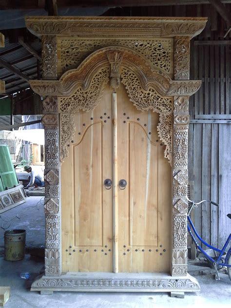 desain warna gapura gebyok pintu gapura produsen gebyok jepara minimalis