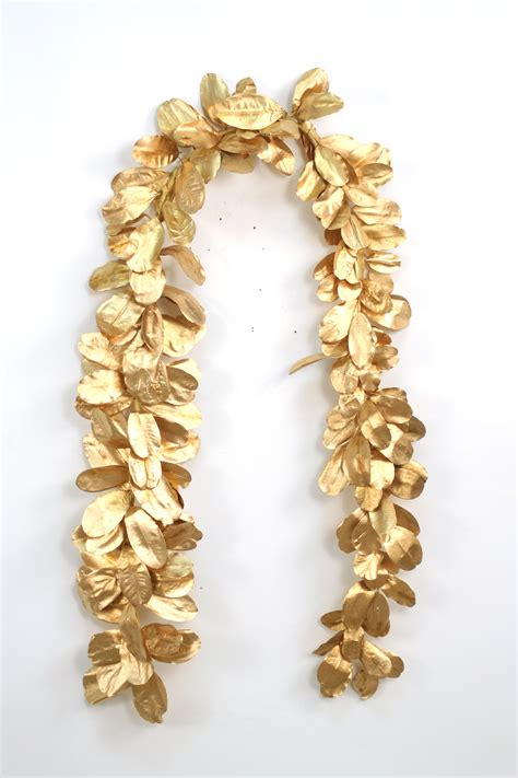 garland 96 gold laurel leaf natural garland free