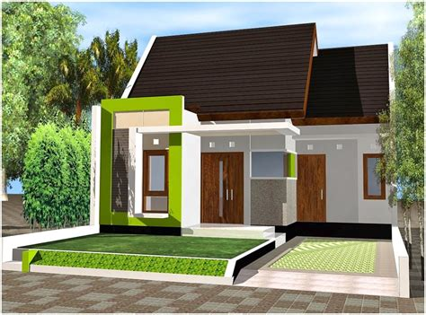desain rumah minimalis warna hijau 65 model desain rumah minimalis 1 lantai idaman dekor rumah