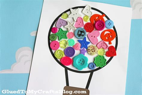 balloon craft for button air balloon kid craft glued to my crafts