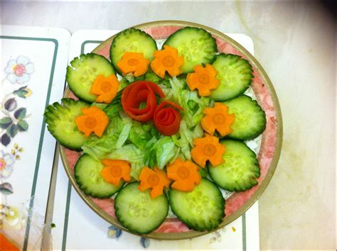 salad decoration at home elegant vegetable salad decoration concepts style