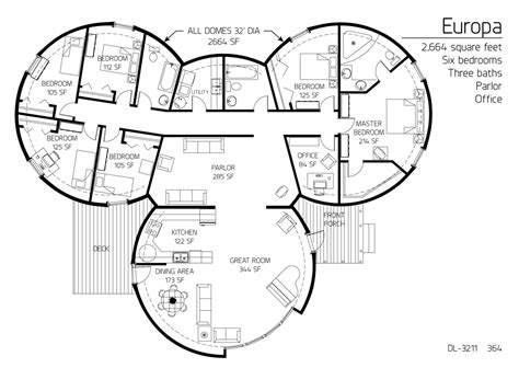 dome homes plans 2 664 square feet six bedrooms three baths home search